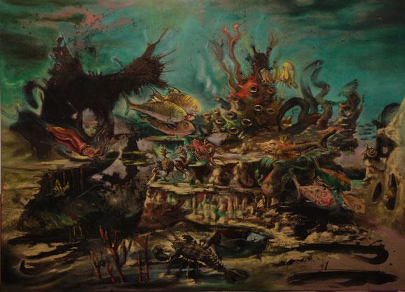 Frank Jacob Esser Tiefsee 190 x 280 cm