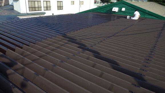 紫波町、屋根塗装