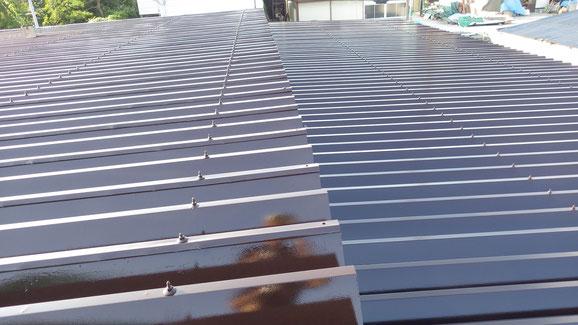 紫波町、屋根塗り替え
