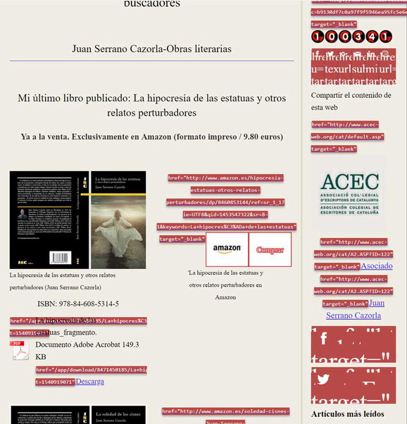Análisis SEO de una web con Web Developer: enlaces nofollow