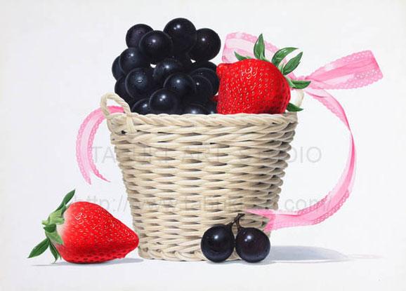 イチゴ ブドウ いちご ぶどう 果物 くだもの クダモノ シズル おいしいイラスト  フルーツイラスト fruit illustration