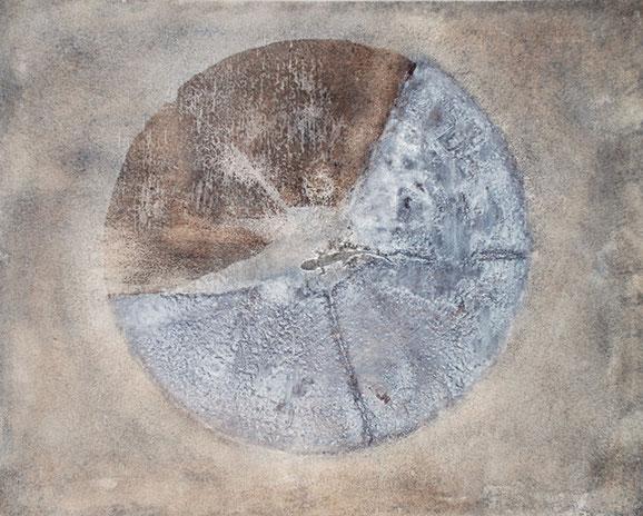 Amador Vallina: El Gecko, Mischtechnik auf Leinwand, 2007, 65 x 81 cm