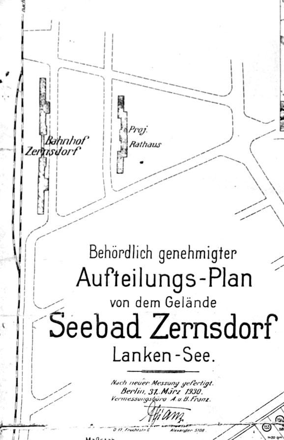 1930 gab es Pläne, das Bahnhofsgebäude auf der nördlichen Seite neu anzulegen. Dort war auch ein Rathaus geplant. Diese Pläne wurden nicht realisiert. Bis heute ist das Areal bewaldet.