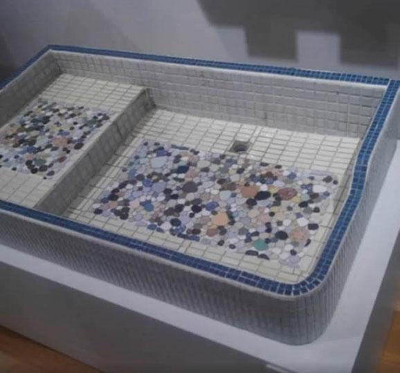 昔のタイル風呂