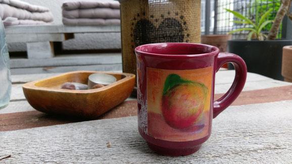 Kunstwerk auf der Tasse