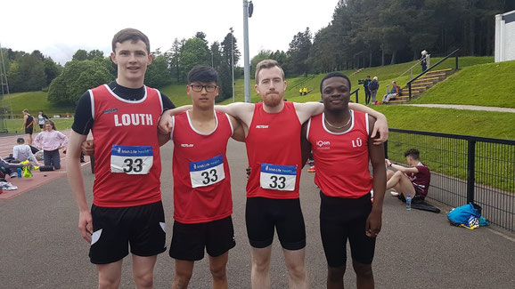 Men's 4x100m team in Belfast