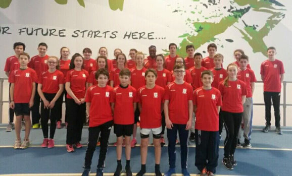 Louth Sprint Squad at the AIT Indoor Arena in Athlone, 13 December 2015