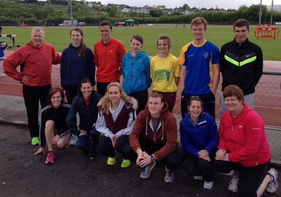 Some of the Louth athletes in Sligo