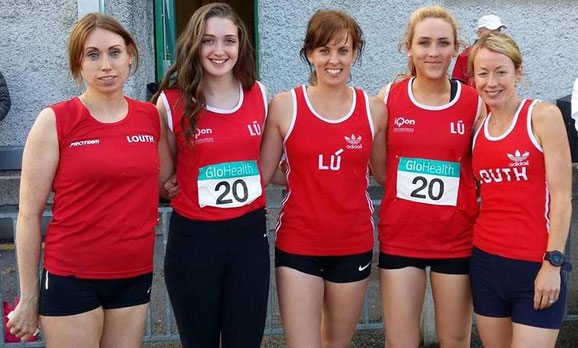 Some of the Louth athletes in Santry