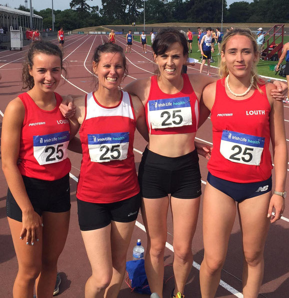 Women's 4x400m team in Santry
