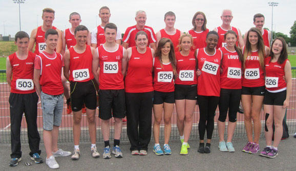 Some of the Louth athletes in Athlone