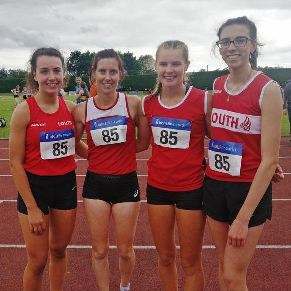 Women's 4x400m team in Tullamore