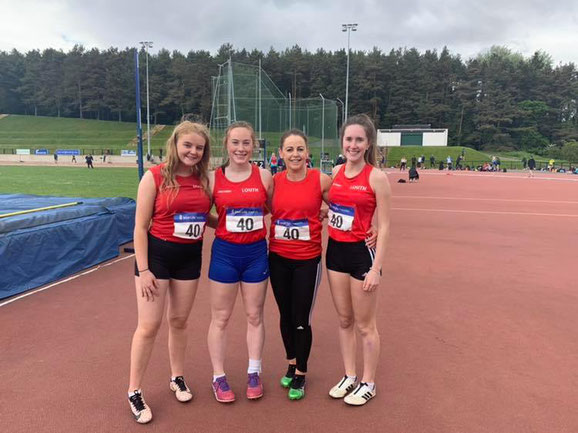 Women's 4x100m team in Belfast