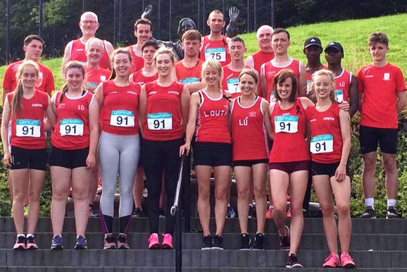 Some of the Louth athletes in Belfast