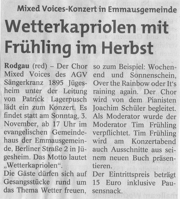 aus der Rodgau-Post vom 17.10.2019