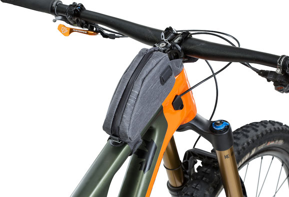 top tube pack, top frame bag, Evoc, Boa, bikepacking, biketour
