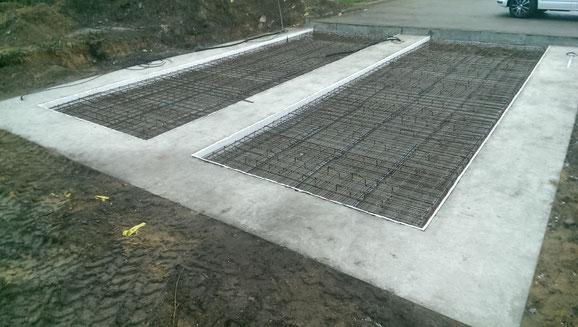 Streifenfundamente mit Bodenplatte