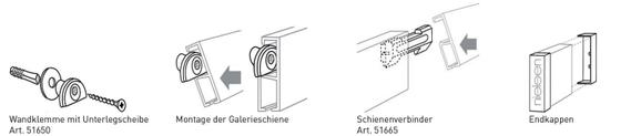 Montageanleitung Galerieschienen Nielsen - Wien