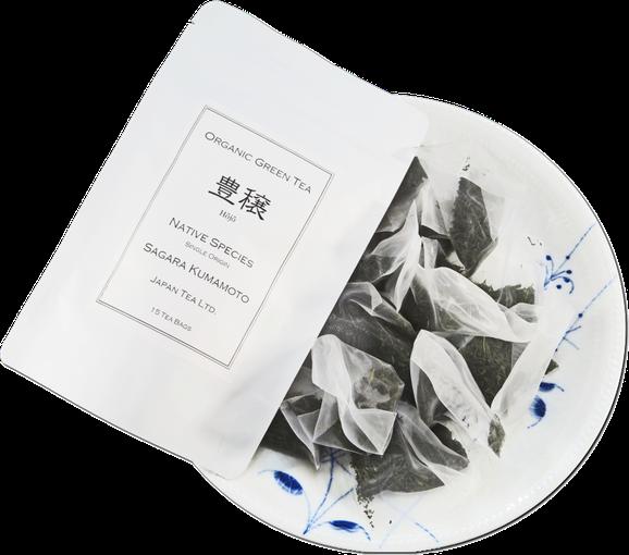 有機緑茶「豊穣」3gティーバッグ15個入り