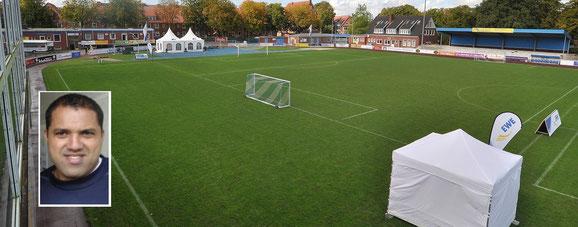 Im Hoheellern-Stadion ist alles für den EWE-Cup vorbereitet. Ailton (kleines Bild) schaut auch vorbei.