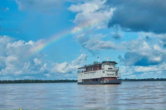 Flusskreuzfahrten im Regenwald auf der La Perla in Iquitos - die Peru Profis von Peruline buchen gern preiswert Ihre Kreuzfahrt