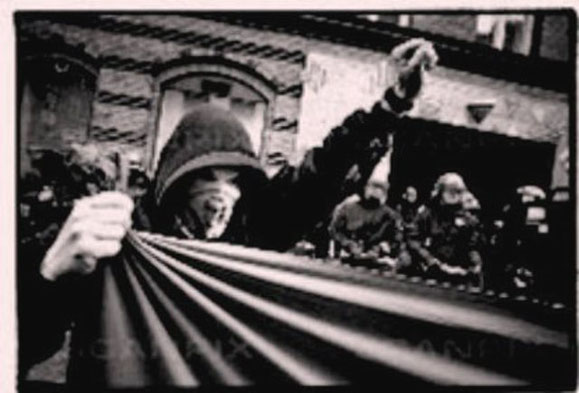 Solidaritetsdemo for guerillagruppen MRTA i Peru, København 1997