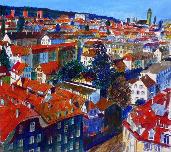 Bern Weissenbüh, vom Eigerhochhaus aus 1992 - Privatbesitz / Private Collection