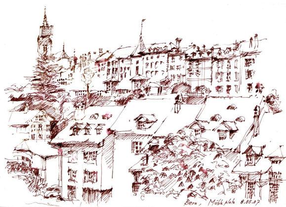 Bern, Mühleplatz 2007 (Filzstift)