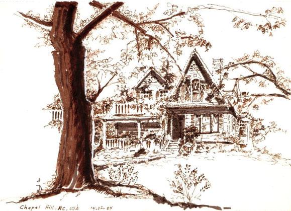 Chapel Hill, USA 2004 (Filzstift laviert)