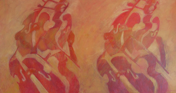 Rythmen-Oel auf Leihwand