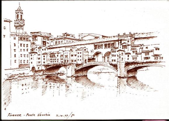 Firenze, Ponte Vecchio 1997 (Filzstift)