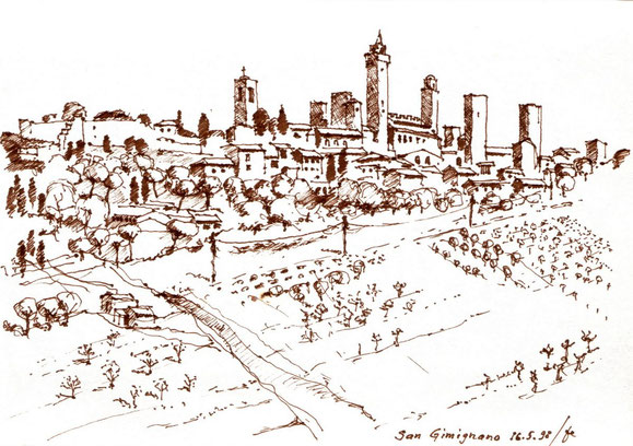 San Gimignano 1998 (Filzstift)