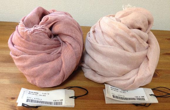 左)ローズピンク、右)ベージュピンク(ピンク)