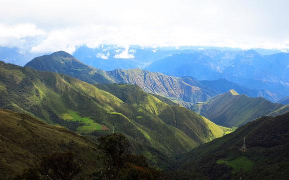 Blick vom Calla Calla Pass.