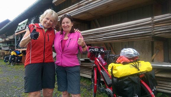 Vor Immenstadt treffen wir Susanne aus dem Berner Seeland.