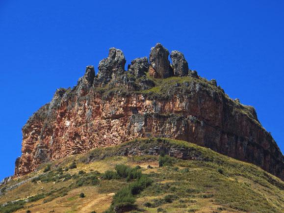 Corona del Inka (Inkakrone), das Wahrzeichen des gleichnamigen, 4000 m hohen Passes.