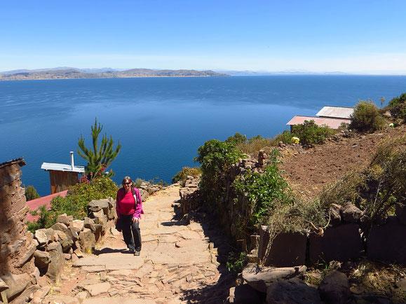 Der Titicacasee ist 17x grösser als der Bodensee.