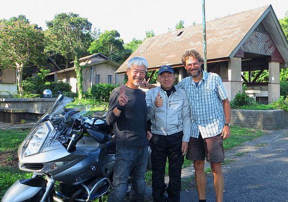 War ein lustiger Abend mit den beiden Motorradfahrern.
