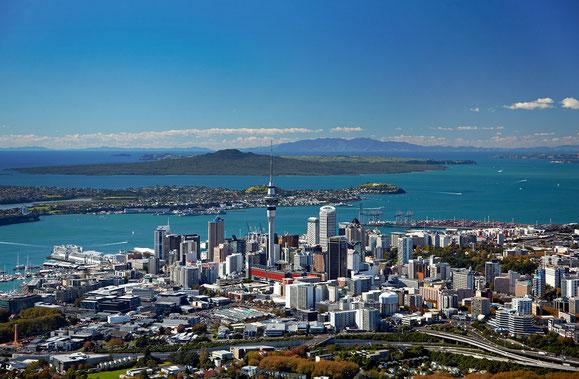 Das 1,5 Mio. Einwohner zählende Auckland wirkt auf uns wie eine gemütliche, überschaubare Provinzstadt. Das ist durchaus positiv gemeint. (Bild aus dem Internet)