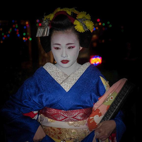 Geisha nel quartiere di Gion a Kyoto