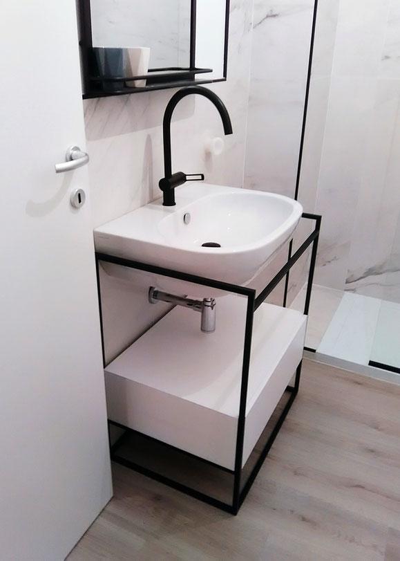 Mobili in ferro milano, Design in ferro Milano, Strutture in ferro milano, Prototipi per designer,arredamento in ferro milano,mobile bagno in ferro