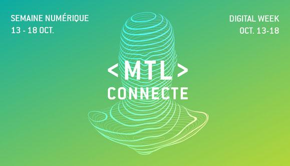 Affiche 2020 MTL connecte du Printemps numérique de Montréal dans article de blogue de l'Académie des Autonomes
