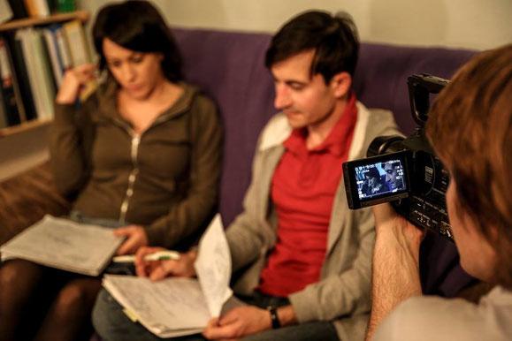 Dreharbeiten zu SCHRITTWEISE. WEGE AUS DER GEWALT. photo © by Andrea Klem