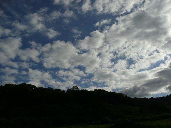 今日の空はこんな感じ