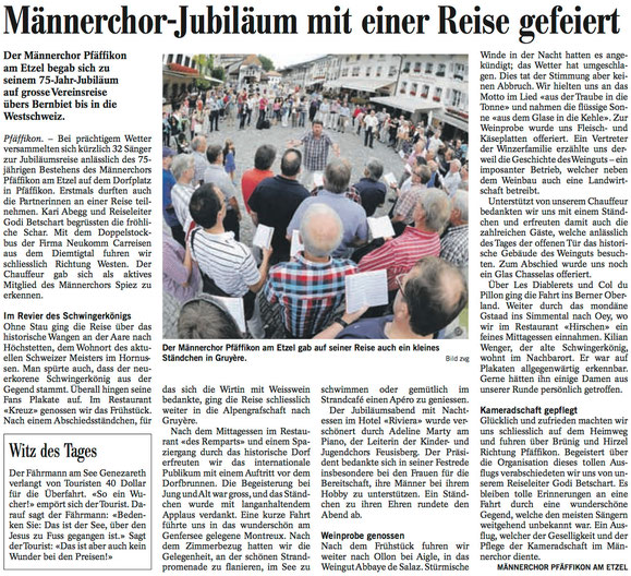 Bericht aus dem Höfner Volksblatt