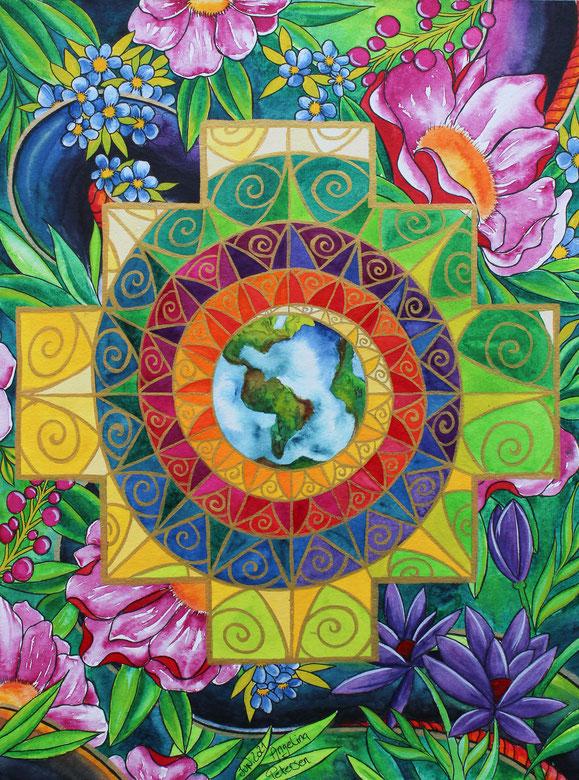 ayahuasca, dmt, pachamama, inka, chakana, andenkreuz, schamanismus, inka schamane, sachamama, otorongo, cusco, quechua, munay ki, angelina petersen, berlin kunstn