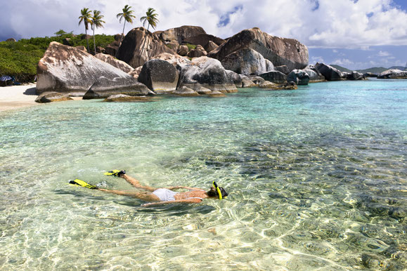 Schnorcheln, The Baths, British Virgin Islands, Karibik, Karibische Inseln