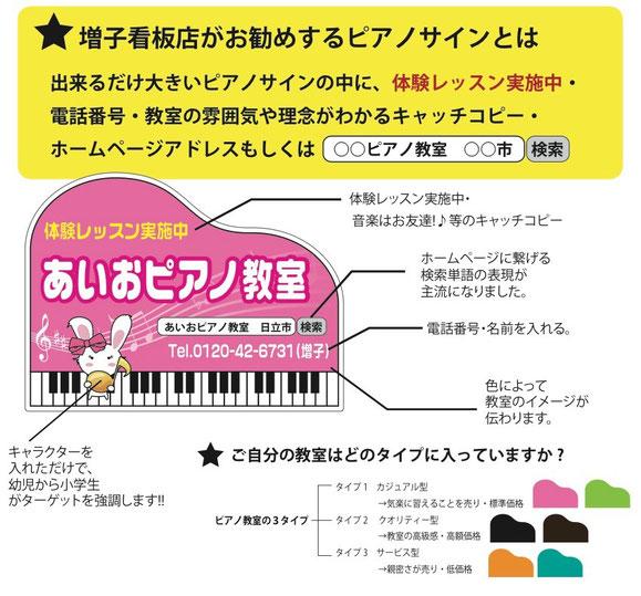 増子看板店がおすすめするピアノサインとは