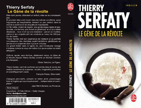 Couverture + 4e de couverture - Le gène de la révolte -Thierry Serfaty