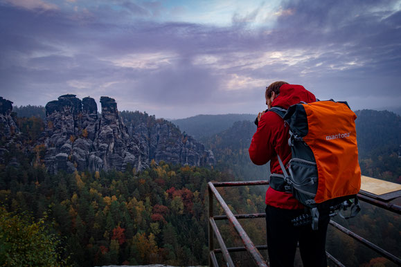 Wunderformat sächsische schweiz mantona rucksack fotografie